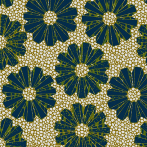 art deco polyfloral on shagreen 4 colors