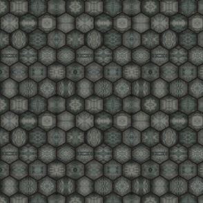 Turtle Shell Hexagons - Concrete