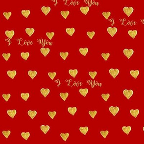Red Love Golden Hearts