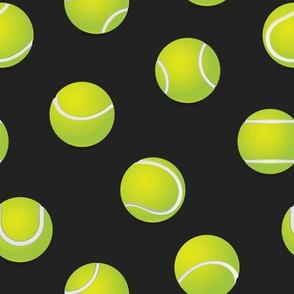 FS Tossed Tennis Balls on Raveb Black