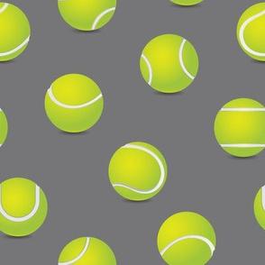 FS Tossed Tennis Balls on Steel Gray