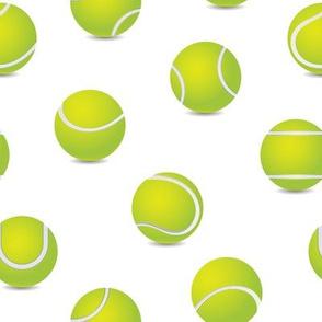 FS Tossed Tennis Balls on White