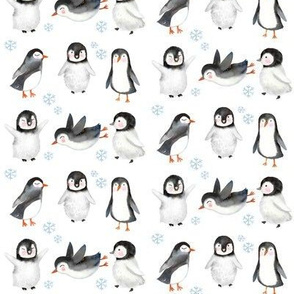 "4"" Winter Penguins // White"