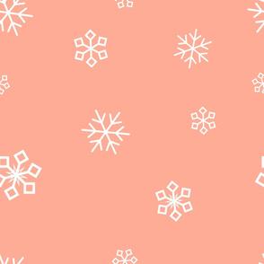 peach snowflakes