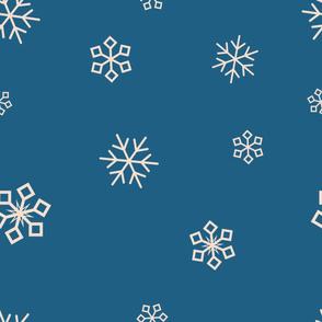 blue teal snowflakes