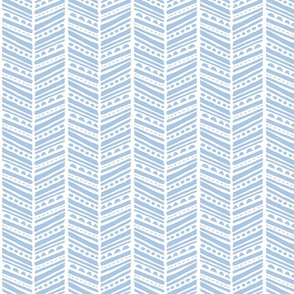 Herringbone Blue Sketch