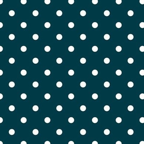 White Dots on Turquoise