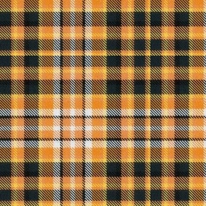 Orange Gray and Black Halloween Plaid
