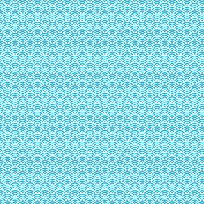 Seigaiha Wave Crest Aqua Small