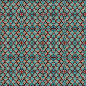 Turquoise and Sandstone Crackle Collage