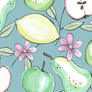 Summer Fruit - Lemons_ Pears and Apples