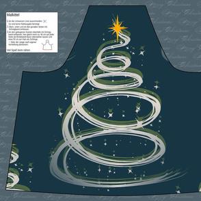 Cut & Sew Apron Christmas tree