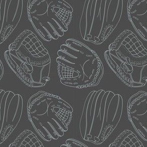 Gray Softball Mitts