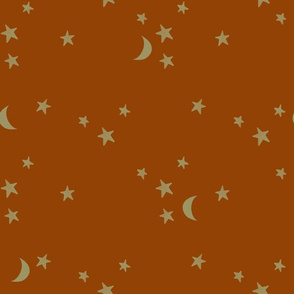 stars and moons // soft gold on 32-8