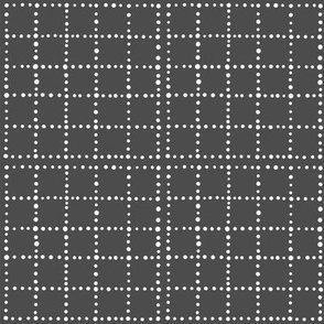 gray and white dots