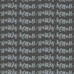 softball name in gray