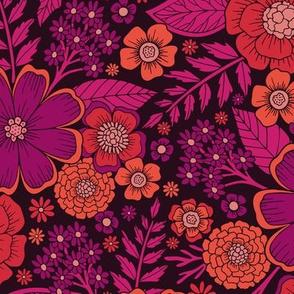 Vibrant Orange, Red, Pink & Purple