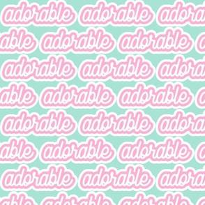adorable - pink and aqua - LAD19