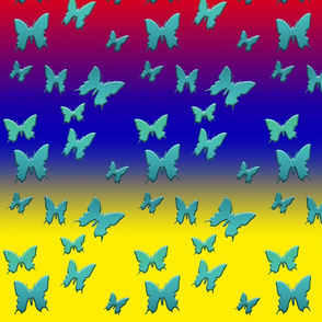 Blue Butterflies in Primary Fashion