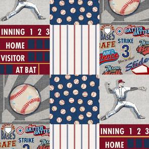 Baseball Patchwork Wholecloth Sandlot Sports