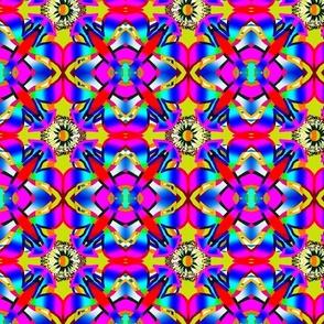 Doris Layered Textured Floral Shapes