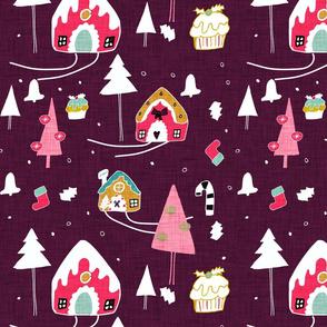 Gingerbeard Houses  Purple