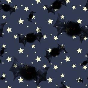 Bat on the starry sky