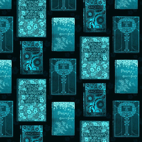 Vintage Book Covers  Turquoise