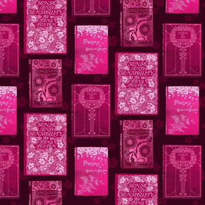 Vintage Book Covers in Pink