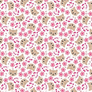 Spring blossom kitty sweet cats illustration pets love flowers pink SMALL