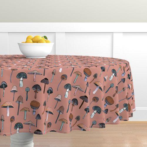 Egg Chair Roze.Mushroom Roze Spoonflower