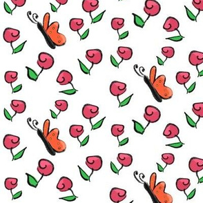 Roses and Butterflies - A This Little Piggy Coordinate