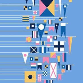 Flags Ahoy {Border Print in Sky}