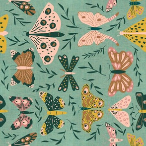 Fine Moths -Horizontal - Fat Quarter Project