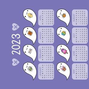 Kawaii Ghost Favourites 2021 Calendar