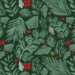 Green Christmas Botanical