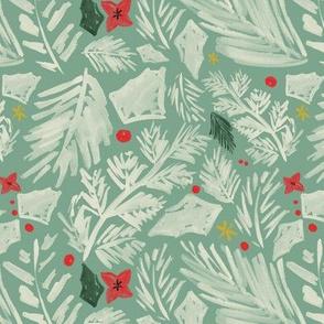 Mint Christmas Botanical