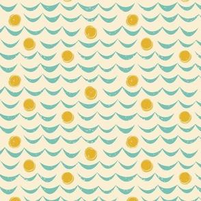 Mid Century Waves on Cream