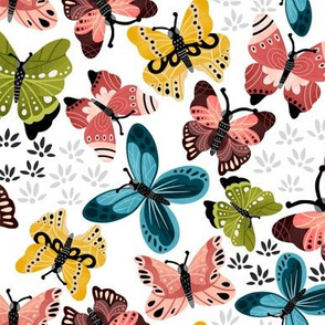 Colorful Butterflies V2