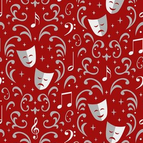 Theater Damask (Red)