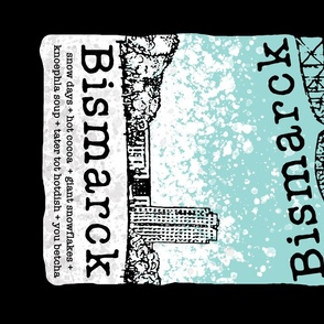 Bismarck Hometown Tea Towel