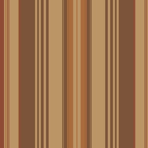 Earthy Coordinated Stripes