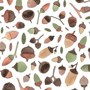 Autumn acorn pattern