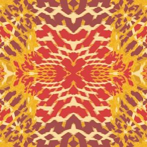 Autumn  Original Ikat Pattern 3a