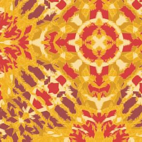 Autumn  Original Ikat Pattern 3