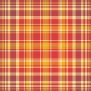 Autumn  Coordinated Plaid for Original Ikat Pattern 3,4,5&6