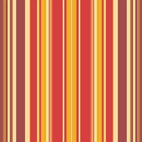 Autumn  Coordinated Stripe  for Original Ikat Pattern 3,4,5&6