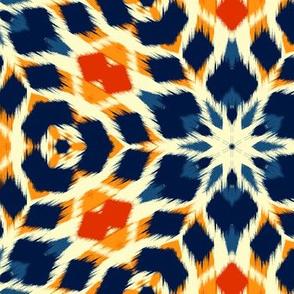 Autumn  Original Ikat Pattern 1