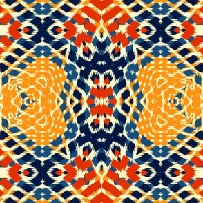 Autumn Original Ikat Pattern 2