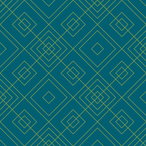 Geometric blue & green_015
